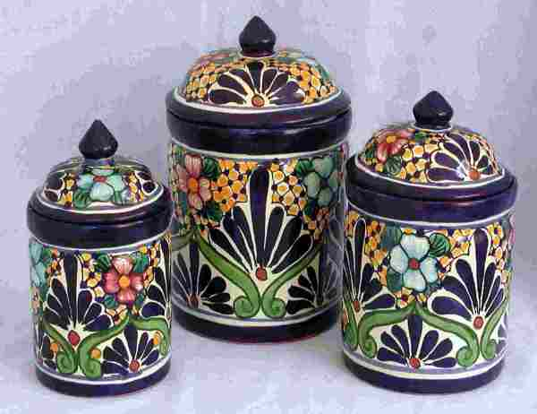 Talavera canisters image