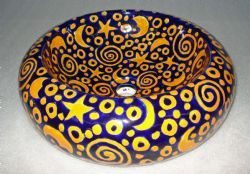 Talavera rounded vessel sink