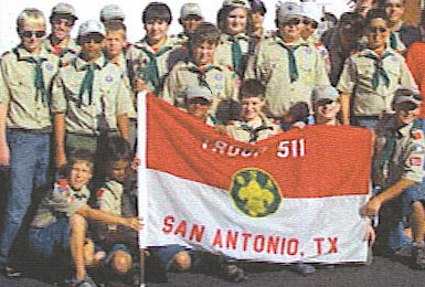 SPPC's Scout Troop 511 with troop flag